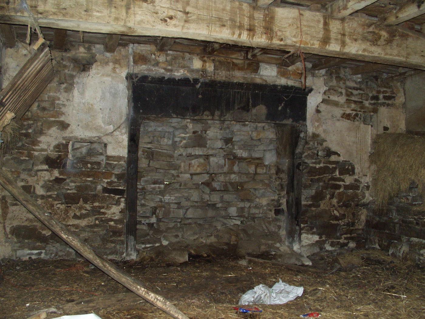 Fireplace before, Reachey Restoration